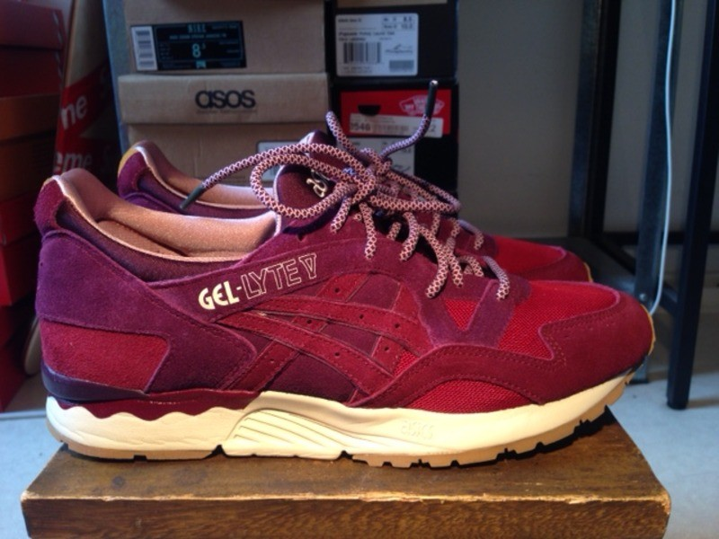 asics gel lyte v x mita dried rose