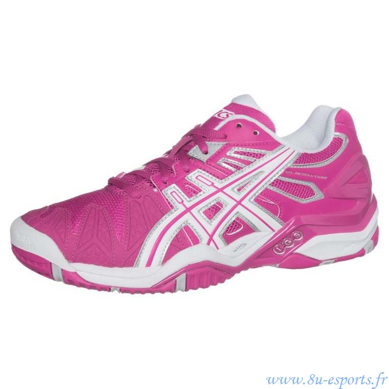 GEL-RESOLUTION 5 - Chaussures de tennis toutes surfaces - rose t,chaussures de tennis asics gel resolution 5