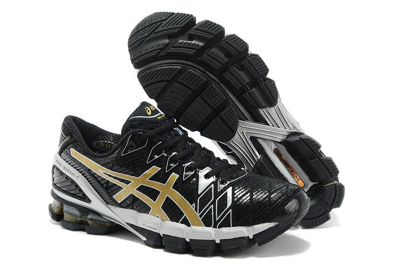 VF1328 Soldes 2017 Nouvelle collection Gel-Kinsei 5 Noir Gold - Homme - Asics Chaussures,soldes asics 2017